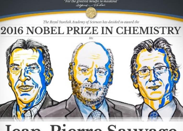 三位科学家分别来自欧美。