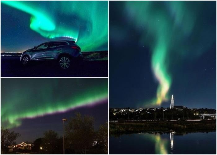 冰岛政府将街灯关掉,以便市民观赏极光。
