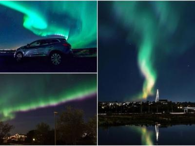 冰岛首都雷克雅未克熄灯一小时以便市民观赏极光