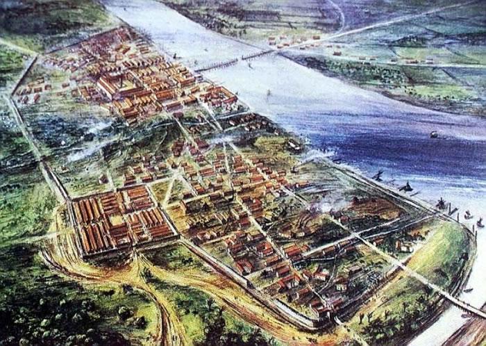 图为后世想像的罗马时代伦敦。