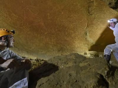 西班牙北部小镇雷凯蒂奥发现1.45万年前洞穴岩画