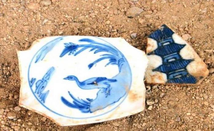 墨西哥考古学家在太平洋沿岸港口城市阿卡普尔科发现大量中国古瓷器碎片