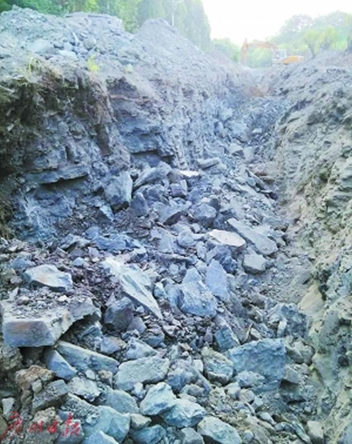 长牙齿化石发现的地方。