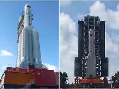 """中国运载能力最大的""""长征五号""""运载火箭下月首发射"""