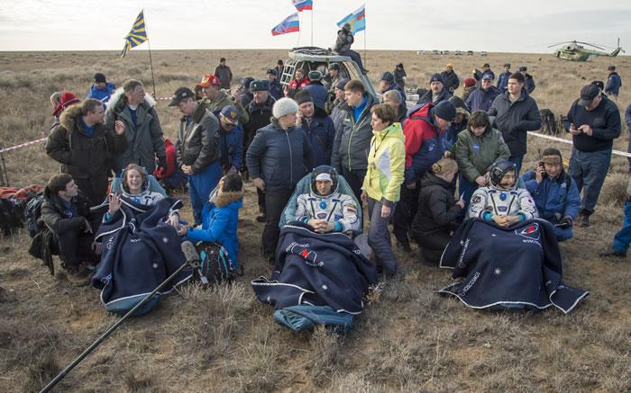 美日俄三名太空人顺利返回地球