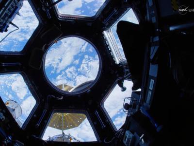 美国太空总署(NASA)公开用鱼眼镜头拍摄的国际空间站超高清视频
