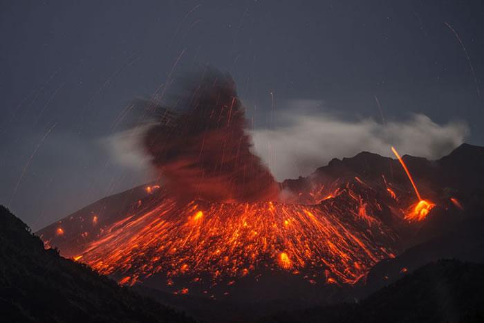 研究认为日本九州鹿儿岛县的樱岛火山每隔130年就会发生一次大规模喷发