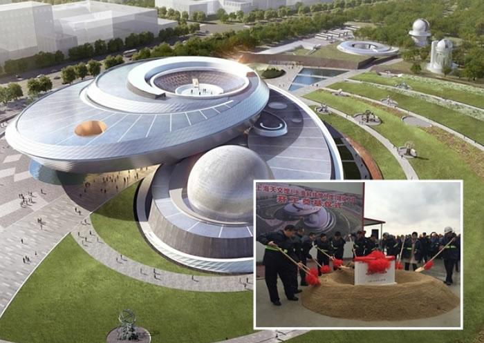全球建筑面积最大的天文馆上海天文馆近日正式动工兴建(小图)。