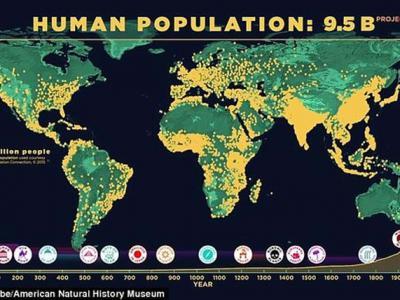 10万年前现代人类开始走出非洲时人口数量还不到一百万 如今全球人口已经超过72亿