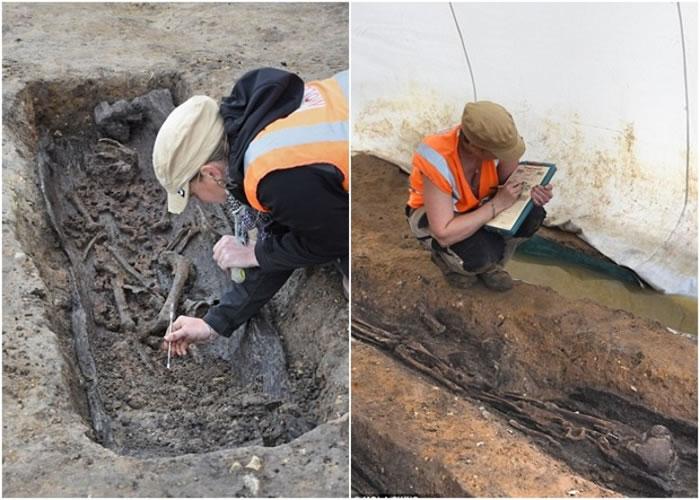 英国出土盎格鲁撒克逊人骸骨。