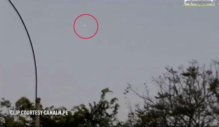 秘鲁首都利马上空现橙色光点 惹外星人UFO入侵恐慌
