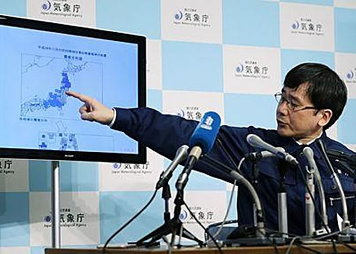 中村浩二指,今次地震相信是东日本大地震的余震。