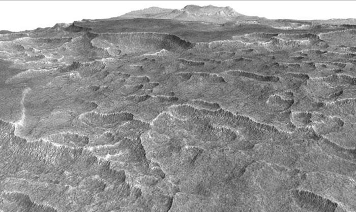 火星最大乌托邦平原,未来可供移居外星使用。