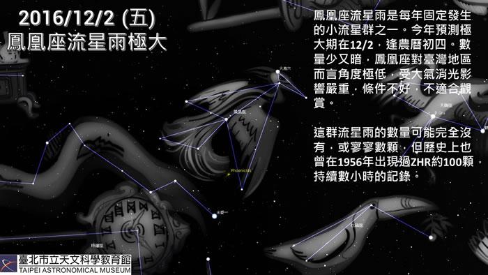 未来一周天象预报:凤凰座流星雨极大