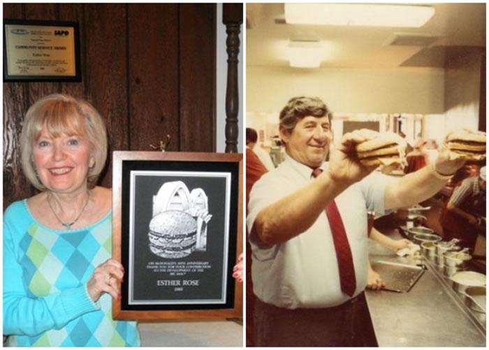 麦当劳说Big Mac是罗斯(左)起的名字,但德利加蒂(右)的家人并不同意。