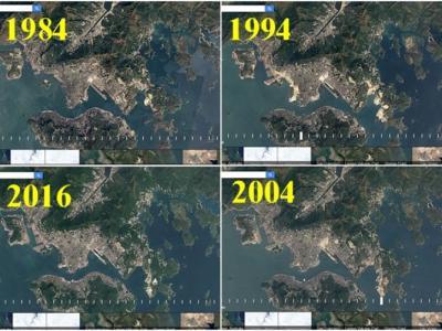 Google Earth推出Timelapse缩时摄影服务 瞬间看全球地貌32年转变