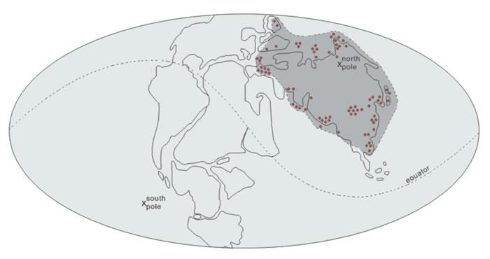 异木属(Xenoxylon)古地理分布模式显示其绕北极分布特征