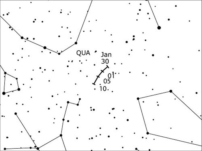 2017年1月3日象限仪座流星雨极大