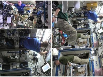 国际空间站宇航员都要试!无重力下玩定格挑战