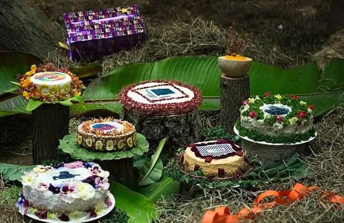 蛋糕是由不同食材精制而成。