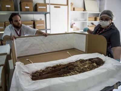 比古埃及悠久 电脑扫瞄解构南美洲有7400年前新克罗人木乃伊