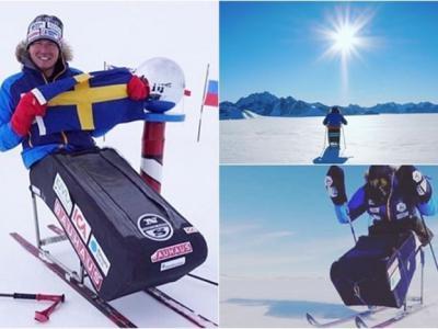 全球第一人 瑞典伤残汉造创举坐轮椅抵南极