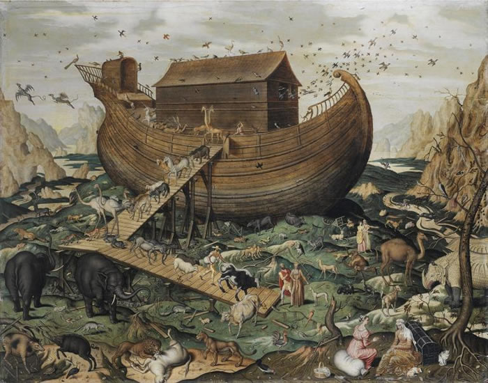 一本十七世纪的畅销书试图证明诺亚大洪水是彗星造成的,到了1737年已经印了五个版本,还翻译成德文。 PHOTOGRAPH BY FINE ART IMAGES,