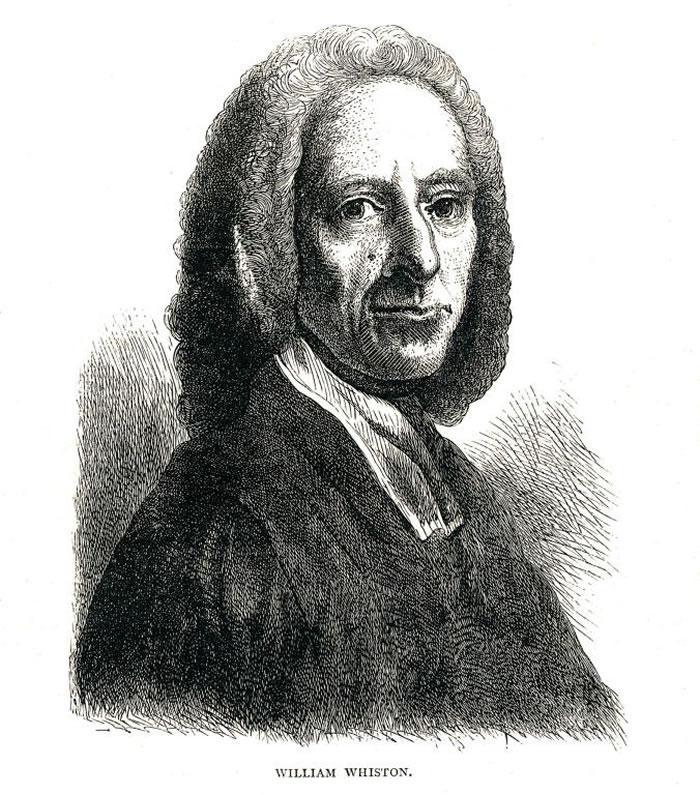 数学家魏斯顿(William Whiston)坚持要化解数学定律和《圣经》之间的矛盾。 PHOTOGRAPH BY THE PRINT COLLECTOR,PR
