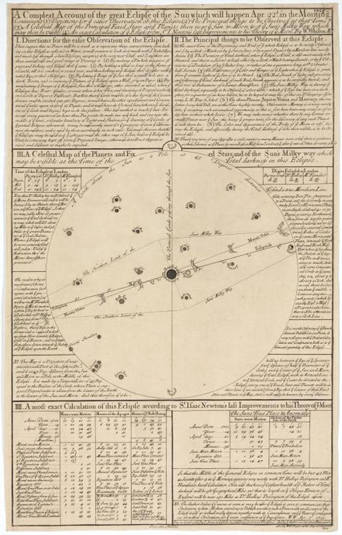魏斯顿著作中的银河系星球图。有历史学家称他是「那个年代的萨根(Carl Sagan)」。 PHOTOGRAPH BY SSPL, GETTY IMAGES