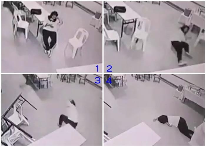 该名女子附近的桌椅无故自行移动,甚至堵塞门口阻止她离去。