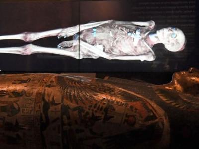 英国大英博物馆首次用崭新扫描技术揭开3000年前木乃伊内部神秘面纱