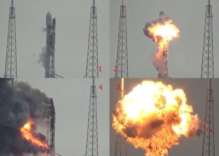 火箭爆炸的过程。