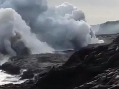 """美国夏威夷10公顷""""新地层""""突倒塌"""