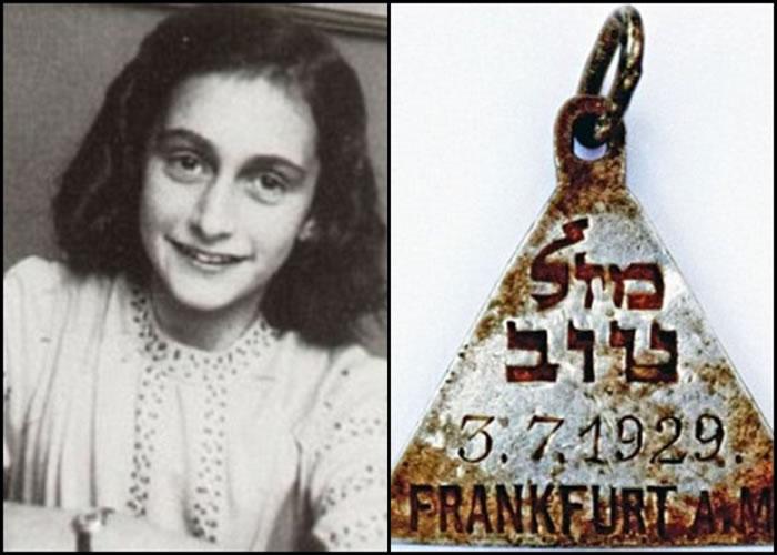 安妮法兰克(左)拥有与今次被找到的吊坠相似的吊坠。