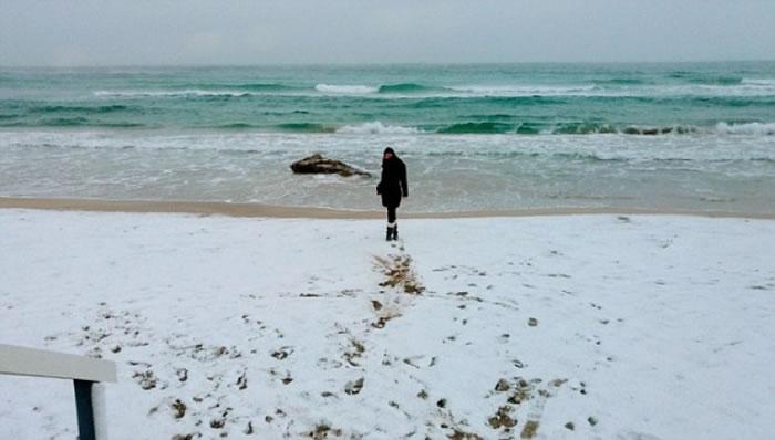 萨伦托在过去的周末连续降雪。