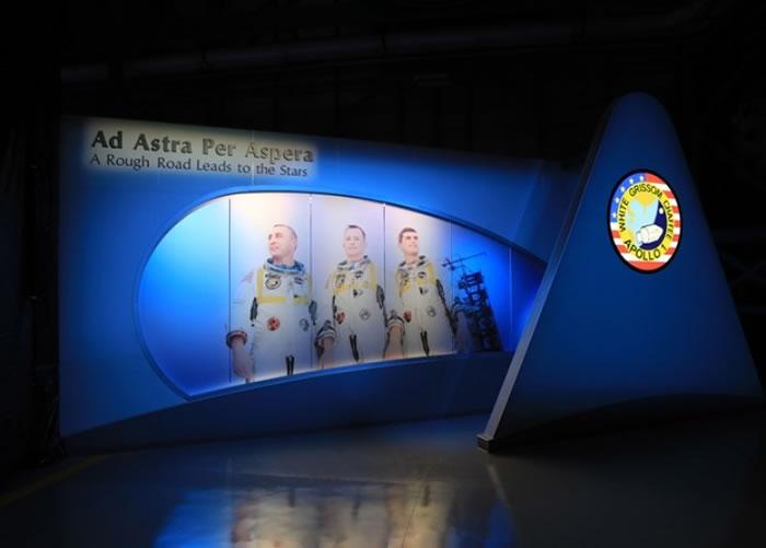肯尼迪太空中心访客区设置阿波罗1号纪念区。