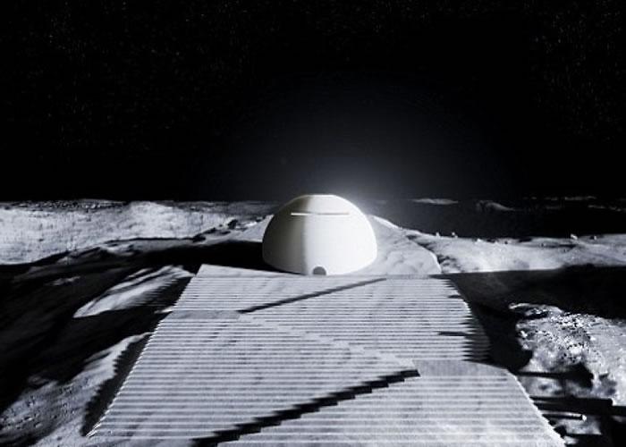 "ESA拟建圆顶型""月球神殿""。"