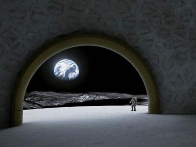 """欧洲太空总署(ESA)""""月球村""""计划:拟在月球南极沙克尔顿坑建立圆顶型""""月球神殿"""""""