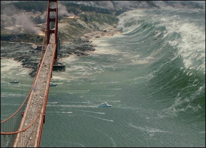 """扎哈罗维奇指""""2016 WF9""""撞上会引发超级海啸。图为构想图。"""