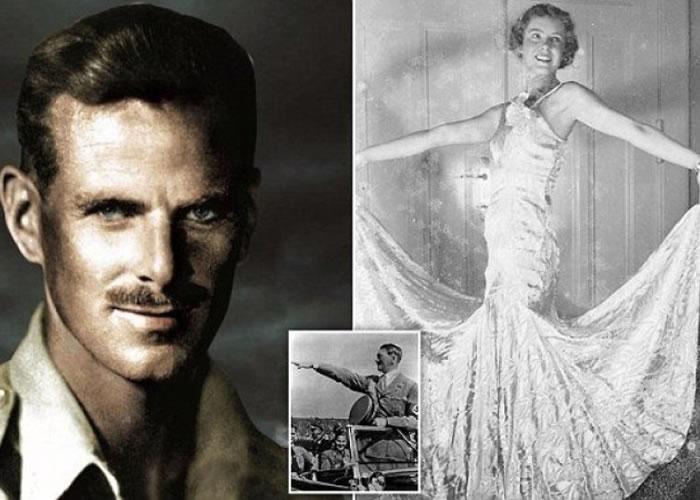 刘易斯(左图)当年曾与阿德里阿诺(右图)参与舞会,希特勒(小图)亦是座上客的舞会。