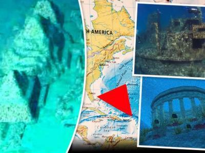 北大西洋百慕大三角海底埋亚特兰蒂斯古城?