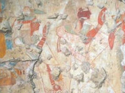 日本考古队埃及考古发现鲜艳壁画古墓穴 或属于法老书记官