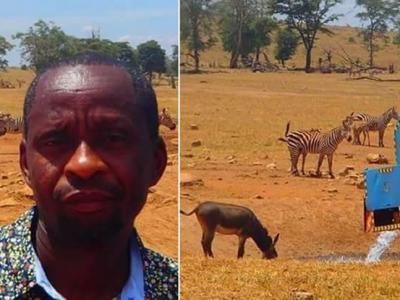 不忍动物渴死 肯尼亚农夫自掏腰包租运水车帮助动物止渴