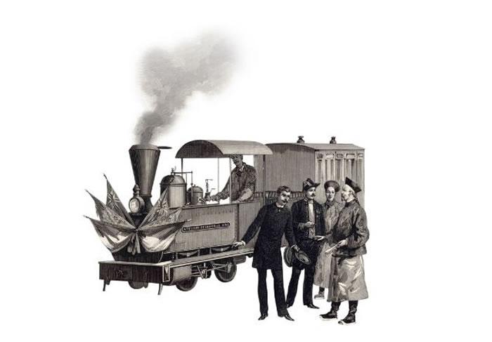 中国的第一条铁路由英国人于1876年兴建,由上海至吴淞,长约二十公里。 PHOTOGRAPH BY SCALA, FLORENCE