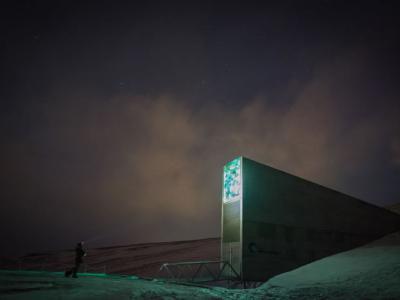 位于挪威北极圈的斯瓦尔巴全球种子库 储存近百万粒农作物种子