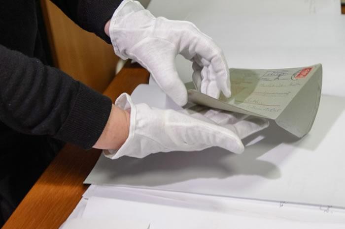 写信者家族近日把信件赠予波兰的博物馆。