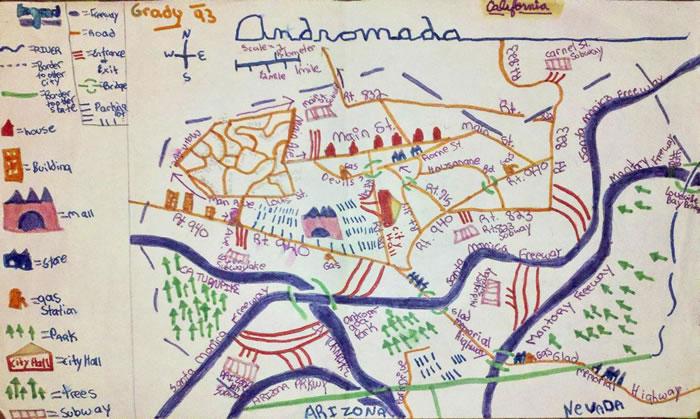 「仙女城」,克瑞丝汀・葛蕾蒂11岁时的作品。 MAP BY KRISTEN GRADY