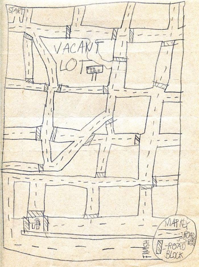 「空地」,艾瑞克・费雪约七岁的作品。 MAP BY ERIC FISCHER