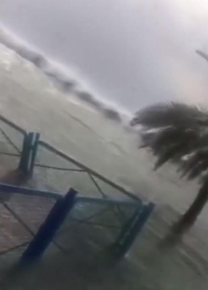 当地官员表示,事件突如其来,令在海边扎营的旅客也很惊讶。
