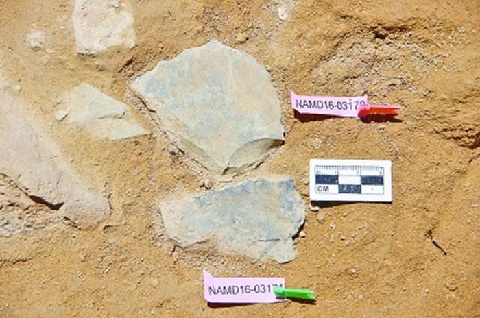 出土的石片 资料图片
